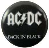 AC/DC - 'Back in Black' Button Badge